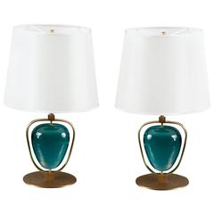 Pair of Table Lamps by Roberto Rida, Italy, Contemporary