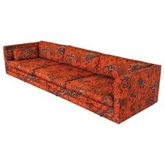 "Harvey Probber Tuxedo Sofa with Jack Lenor Larson ""Happiness"" Upholstery"