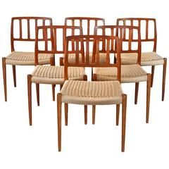 Set of Six Niels O. Moller Dining Chairs