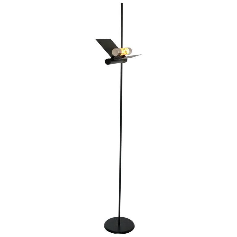Halogen floor lamp in the style of joe colombo 1980s italia for sale