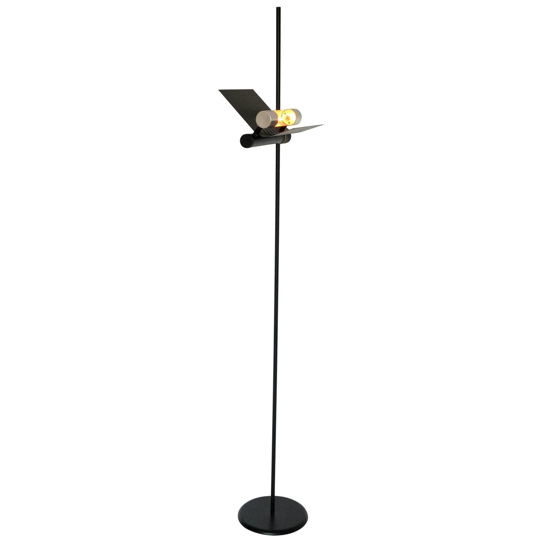 Tall halogen floor lamp in the style of joe colombo 1980s for Halogen floor lamp for sale