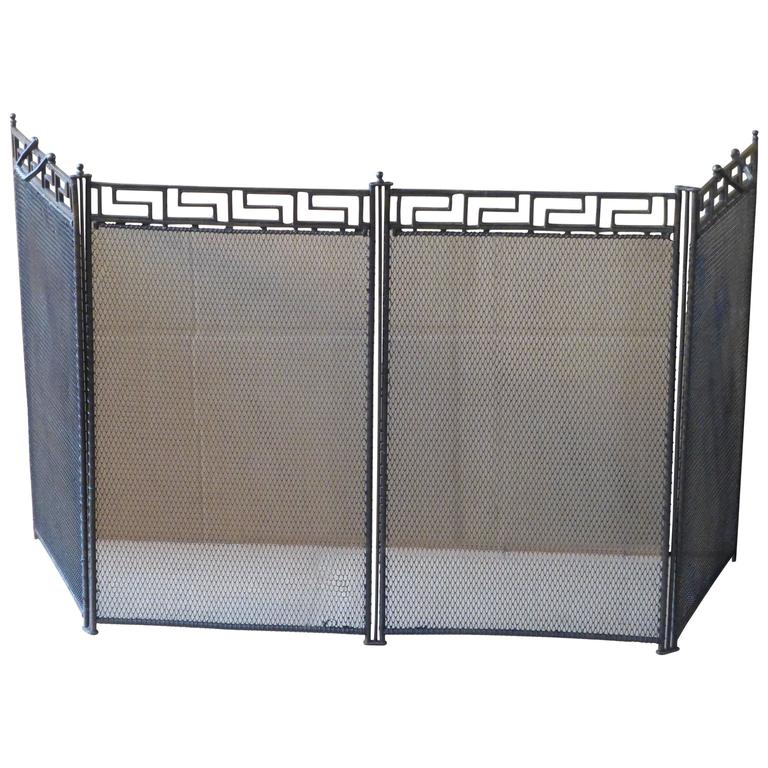 French Art Deco Fireplace Screen Fire Screen At 1stdibs