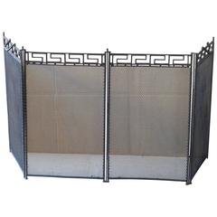 French Art Deco Hammered Iron Fire Screen Charles Piguet 1925 For Sale At 1stdibs