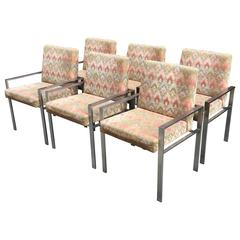 Six Harvey Probber Dining Armchairs