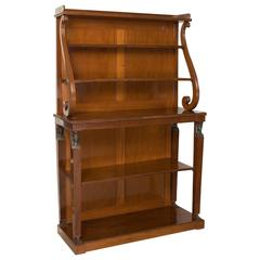 Fine Quality Regency Period Open Bookcase in Solid Mahogany
