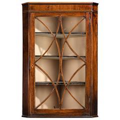 George III Period Small Glazed Hanging Cupboard