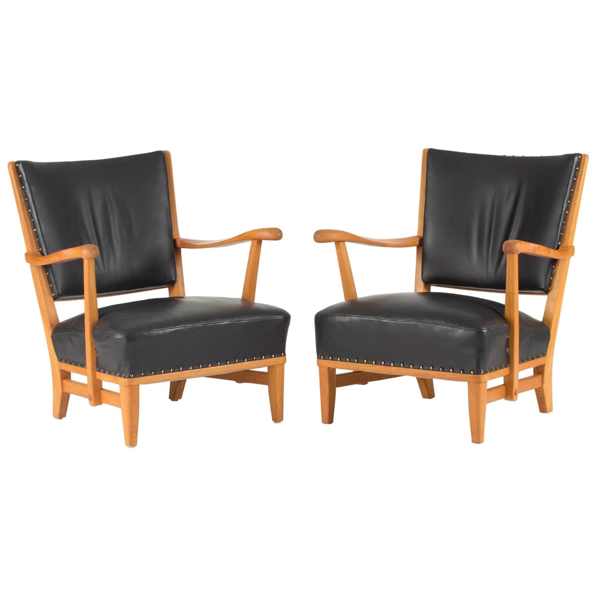 Pair of Lounge Chairs by Elias Svedberg