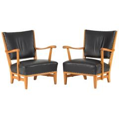 Pair of Lounge Chairs by Elias Svedberg