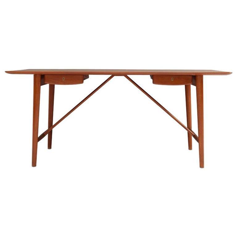 Mid-century desk in solid teak by Hvidt & Mølgaard