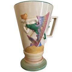 Clarice Cliff Bizarre Ware Art Deco Vase Unique