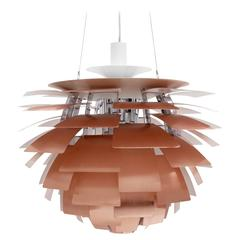 unique vintage ´Artichoke` pendant lamp in copper by Poul Henningsen