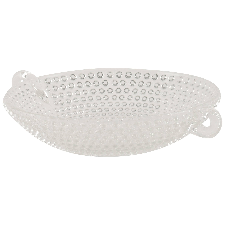 Italian Glass Bowl or Centerpiece, Mid-Century Modern