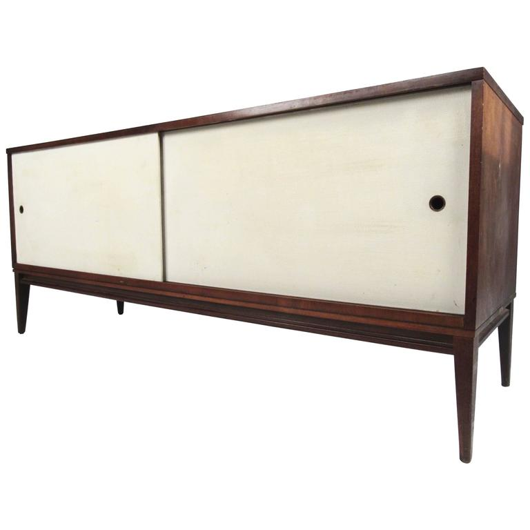 Paul McCobb Sliding Door Cabinet