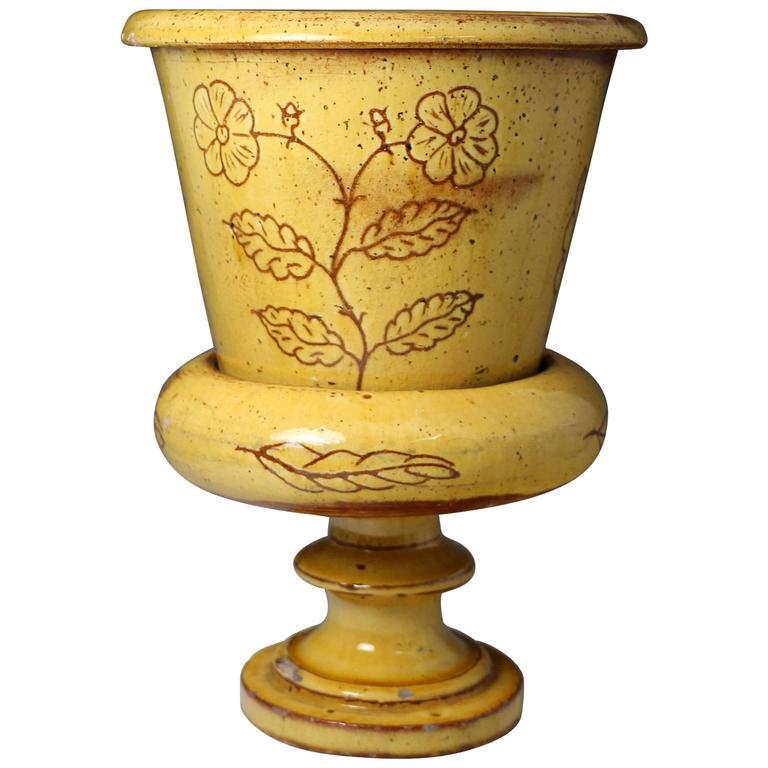 Antique Fremington Pottery Devon Planter and Stand Mid-19th Century England