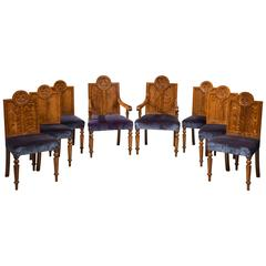 Set of Eight Late 19th Century Oak Dining Chairs