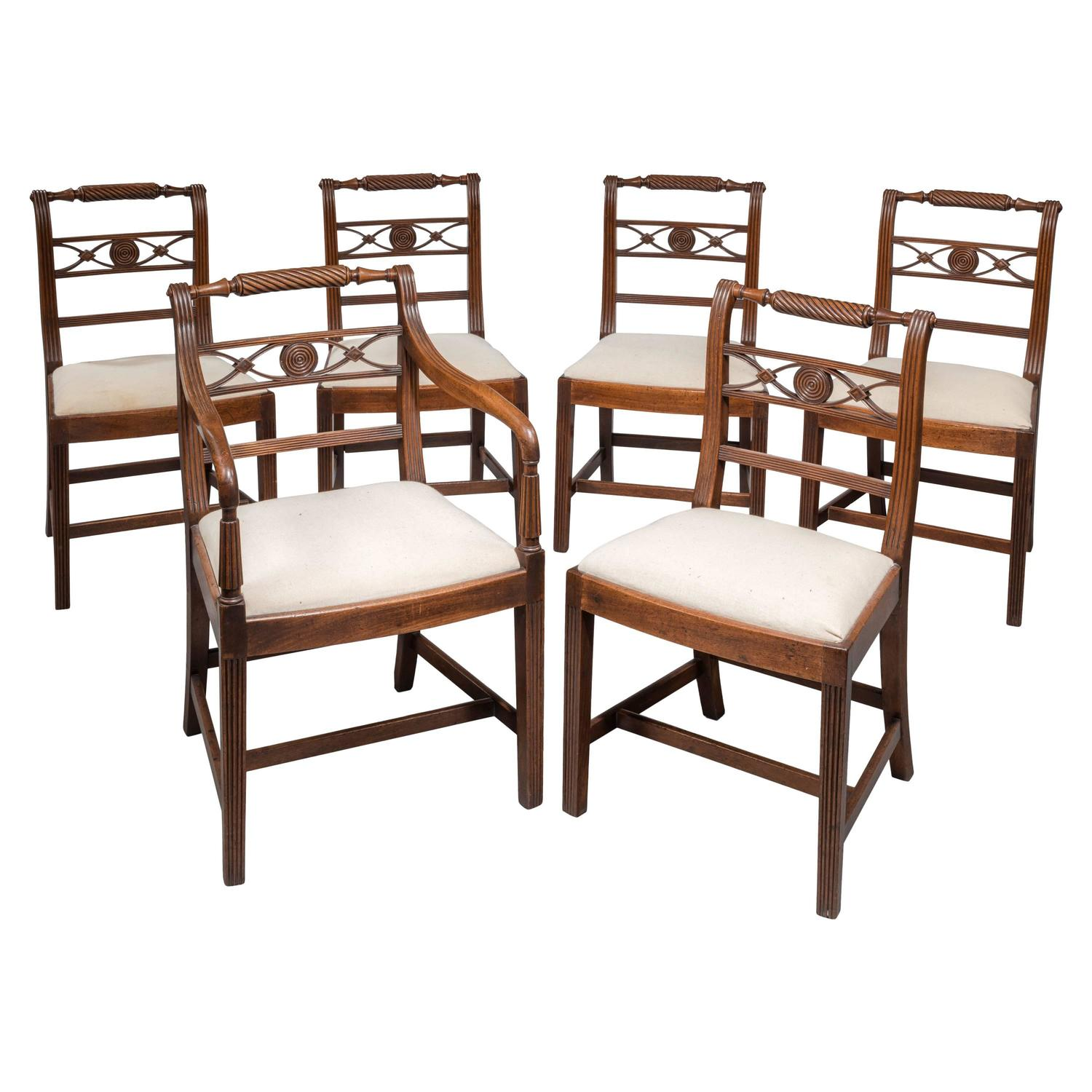 Set of Six Early 19th Century Mahogany Chairs For Sale at  : 5857913z from www.1stdibs.com size 1500 x 1500 jpeg 145kB