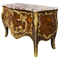 Louis XV Style Salamander Commode from the 19th Century