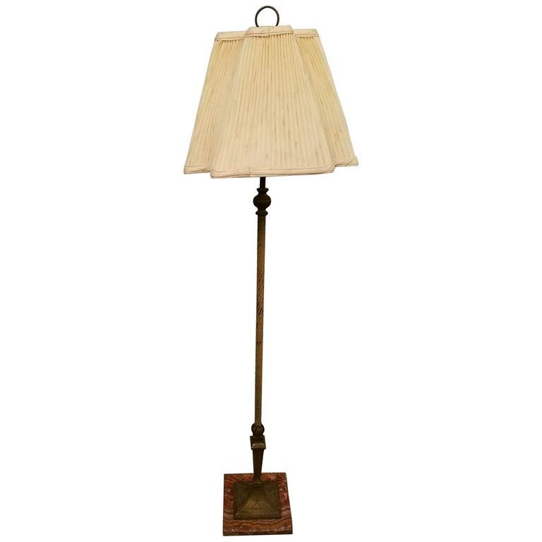 bronze floor lamp on a marble base at 1stdibs. Black Bedroom Furniture Sets. Home Design Ideas