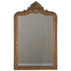 Antique French Louis Philippe Mirror Cartouche, circa 1880