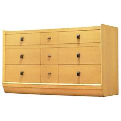 1930s Black and Cream Lacquered Wood Chest of Drawers Storage Unit Sideboard