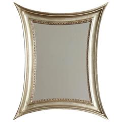 Danish Silver Giltwood Concave Sided Mirror