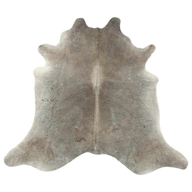 Contemporary Gray Brazilian Cowhide Rug, 2016 For Sale
