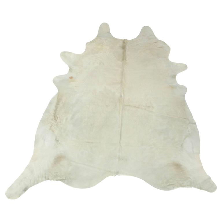 Contemporary White Brazilian Cowhide Rug, 2016 For Sale