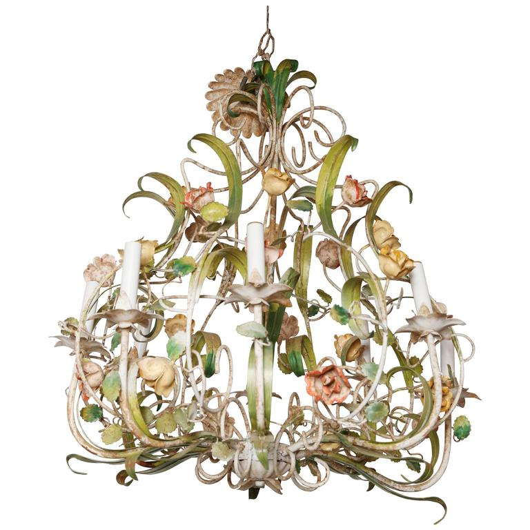 Vintage Italian Floral Chandelier For Sale At 1stdibs