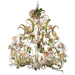 Vintage Italian Floral Chandelier