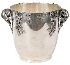 Highly Decorative Italian Sterling Silver Wine Cooler