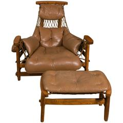 Captain's Chair by Jean Gillon with Ottoman in Rio Rosewood