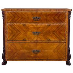 Antique German Louis Philippe Cherrywood Chest of Drawers, circa 1850