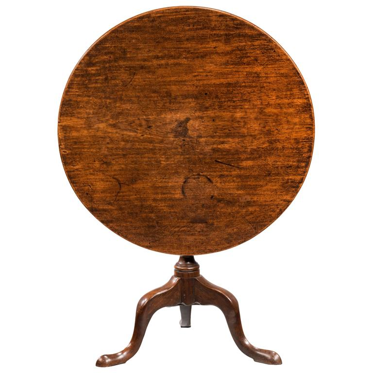 Late 18th Century Mahogany Tilt Table
