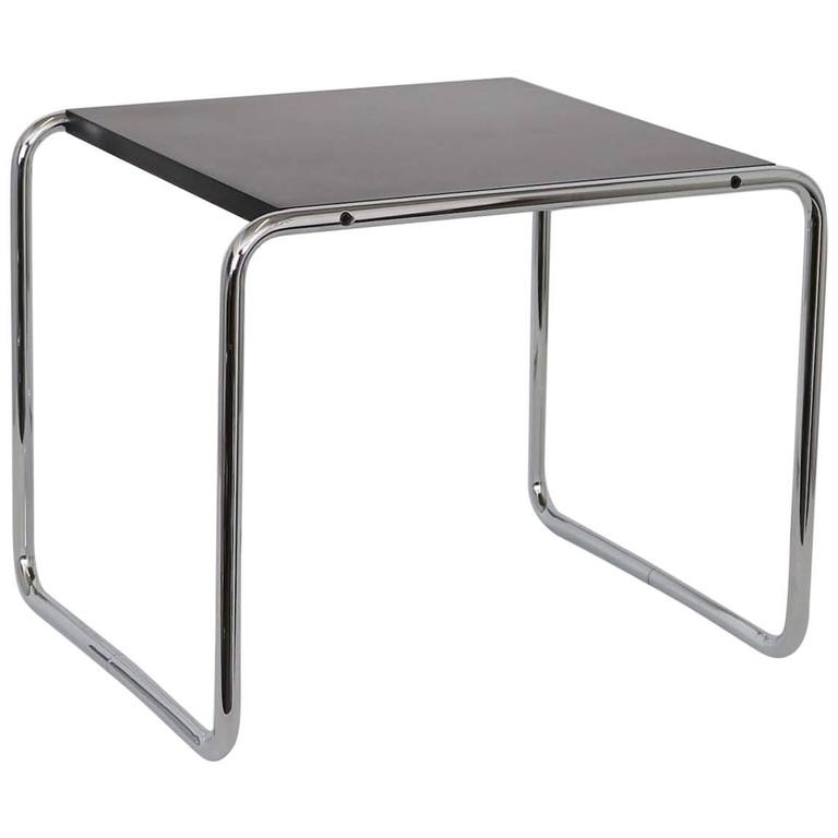 Signed Side Table By Marcel Breuer For Knoll Studio At 1stdibs