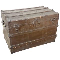 Colonial Steamer Trunk Congo, Early 20th Century