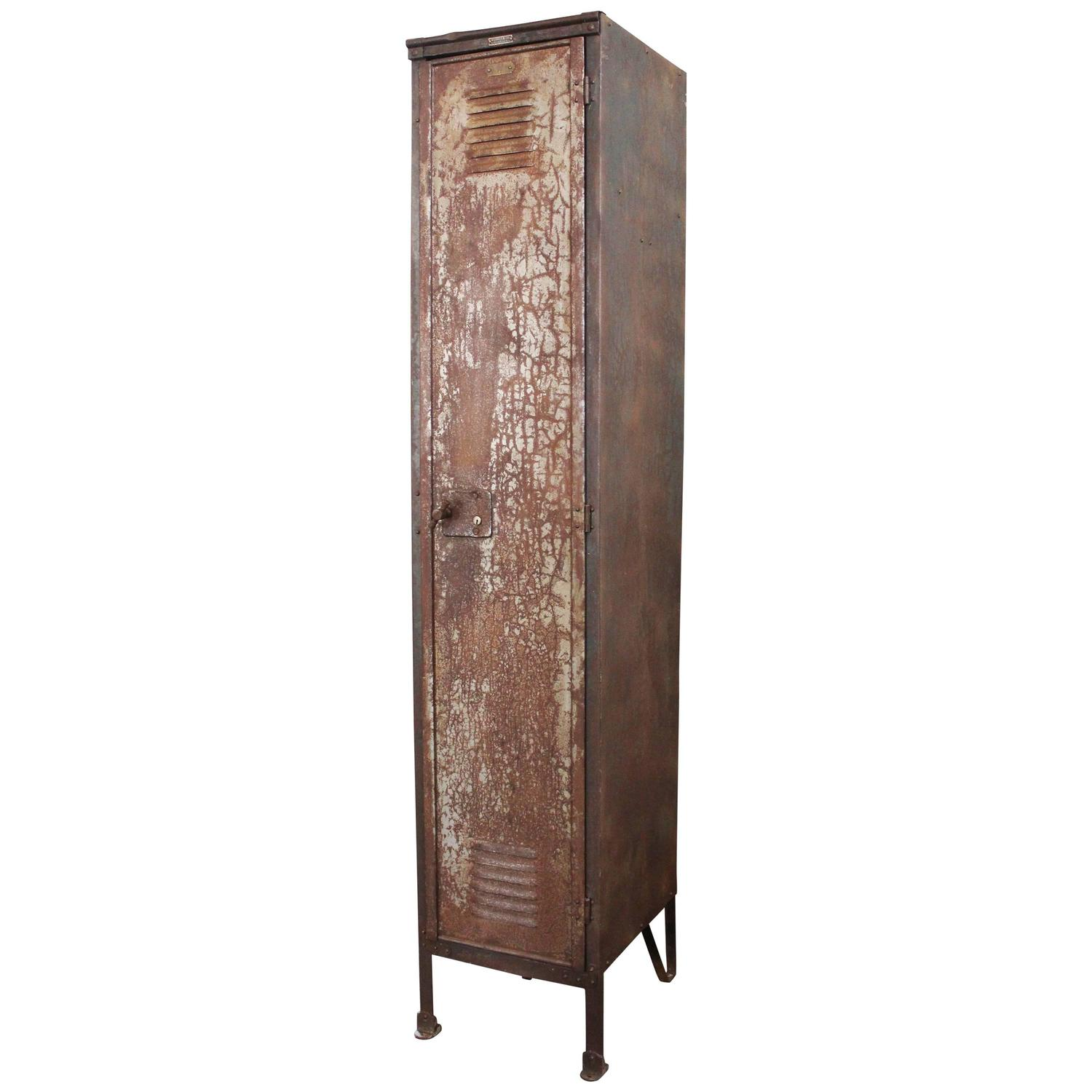 vtg 1940 50s simmons furniture metal medical. Vintage Industrial Factory Metal Locker, Old Steel Storage Brass Plate For Sale At 1stdibs Vtg 1940 50s Simmons Furniture Medical