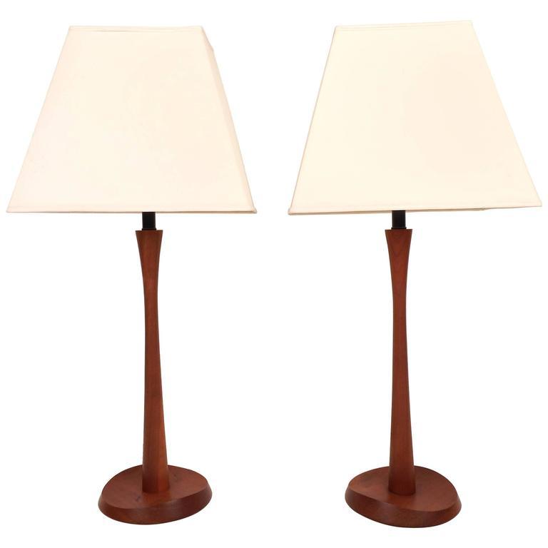 Mid-Century Modern Teak Table Lamps