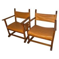 Adolf Loos Pair of Fireside Chairs Designed for Werkbundsiedlung Vienna, 1932
