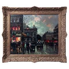 Place de L'opera Oil on Canvas
