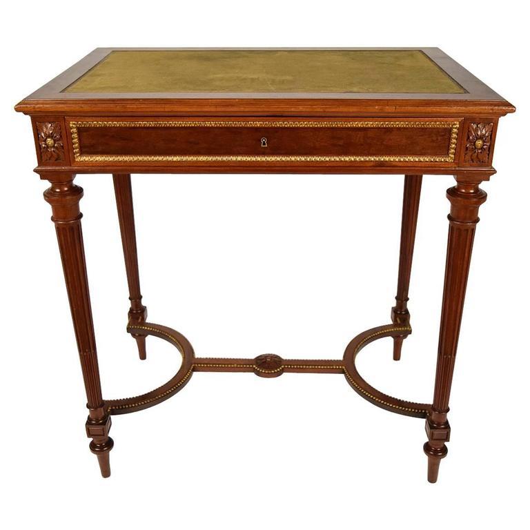 19th Century French P Sormani Mahogany Writing Desk At