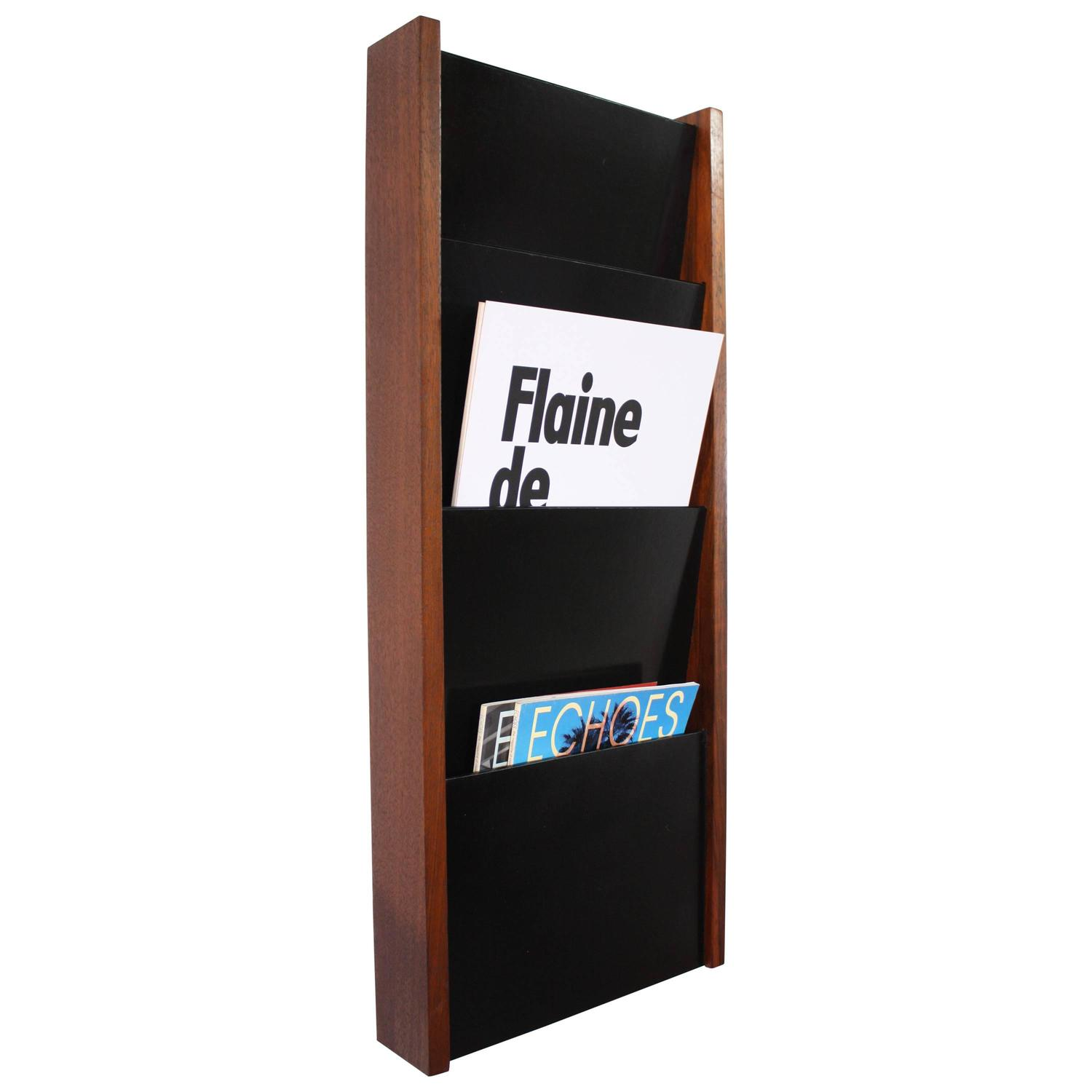 mount white magazine stand holder wall decoration wire rack mounted metal wooden shelf