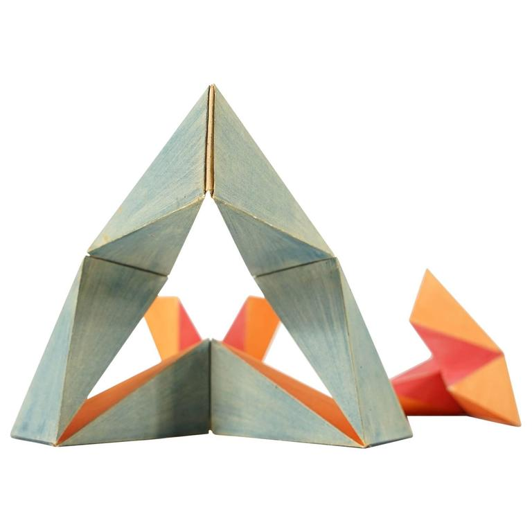 Invertible Cube Signed, Colored and Handmade by Paul Schatz, 1898-1979