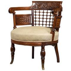Late 19th Century Mahogany Tub Chair