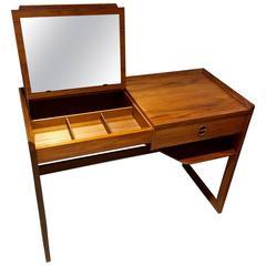 Danish Mid-Century Teak Desk/Vanity Table