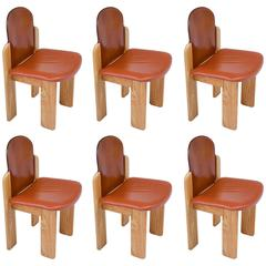 Set of Six Dining Chairs by Silvio Coppola for Fratelli Montina
