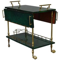Folding Bar Trolley, Aldo Tura, 1960s