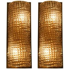 Pair of Murano Glass Wall Sconces, Italy