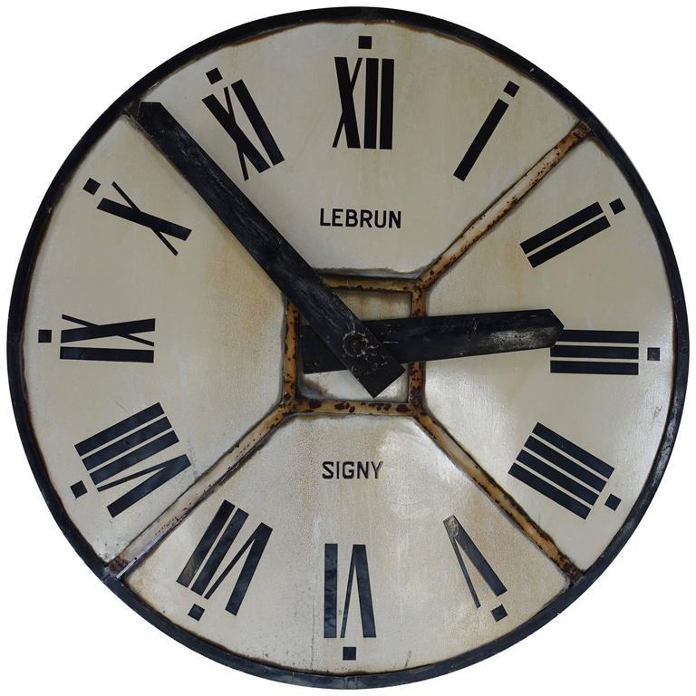 Iron Clock Face, France, circa 1940 For Sale