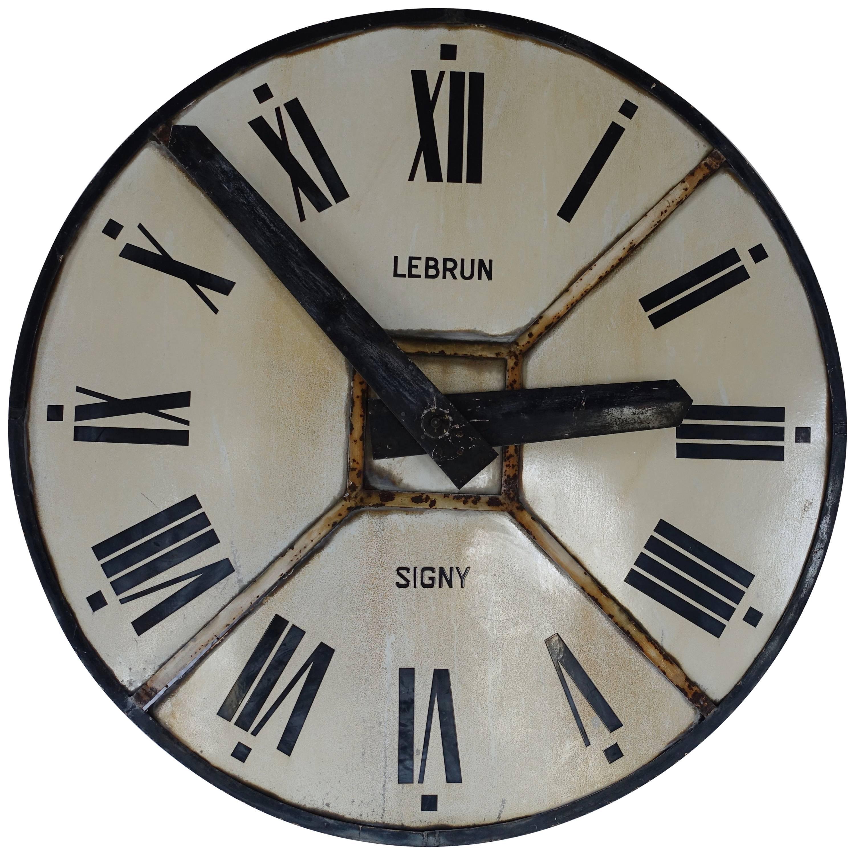 Iron Clock Face, France, circa 1940