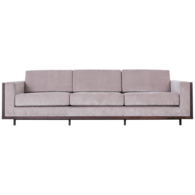 108 quot  st pierre sofa by uhuru design  walnut slab frame